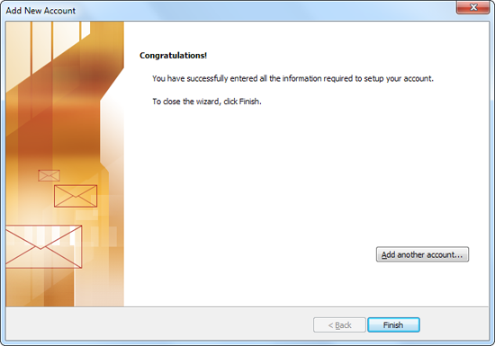 Screenshot: Congratulations!
