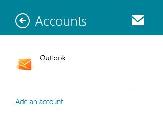 Screenshot: 'Add an account' under Accounts